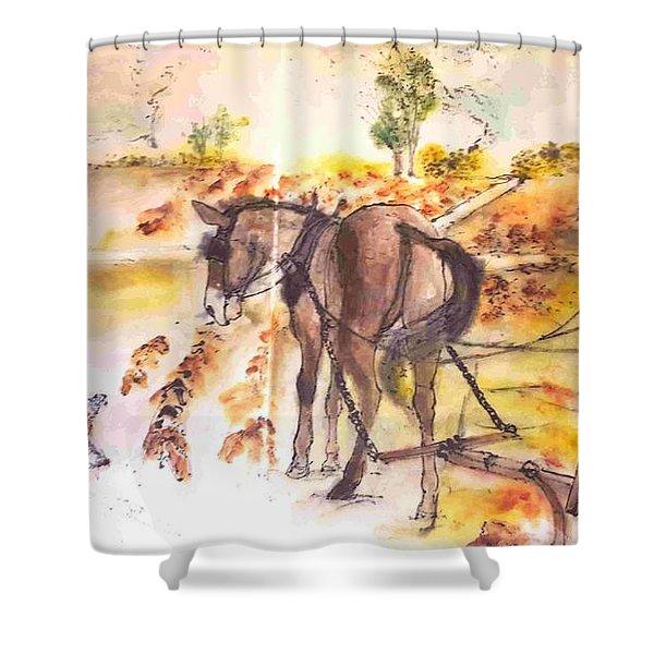 Art Of Farming Album Shower Curtain