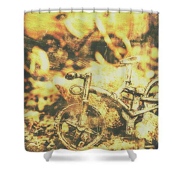 Art Of Mountain Biking Shower Curtain