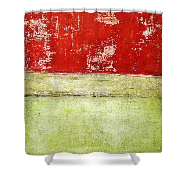 Art Print Rotgelb Shower Curtain
