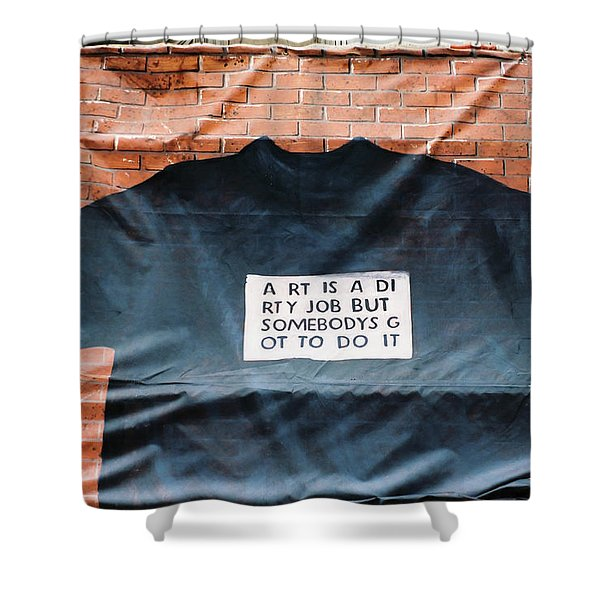 Art Shirt Shower Curtain