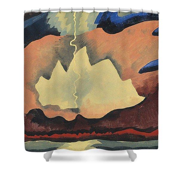 Arthur Garfield Dove Thunder Shower Shower Curtain