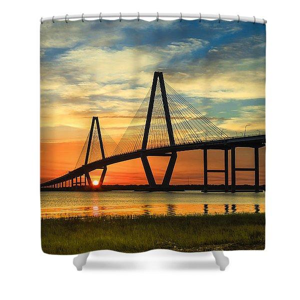 Arthur Ravenel Jr. Bridge - Charleston Sc Shower Curtain
