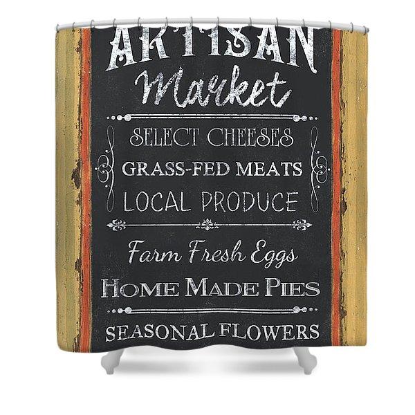 Artisan Market Sign Shower Curtain