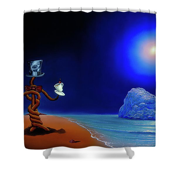 Artist Conversing Shower Curtain