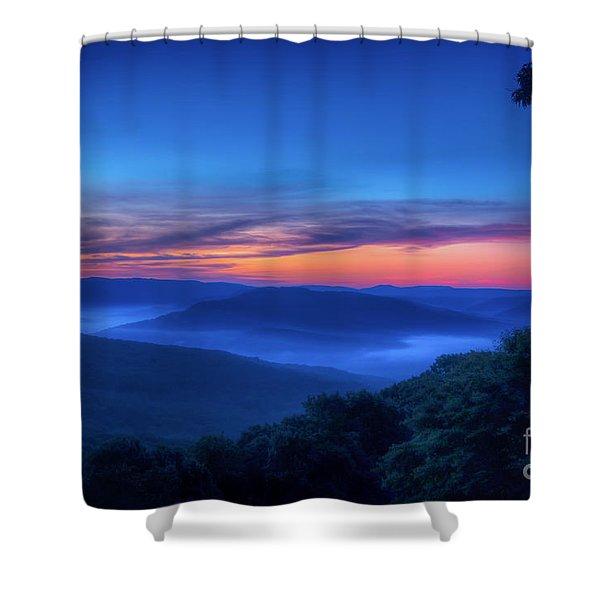 Artist Point Sunrise Shower Curtain