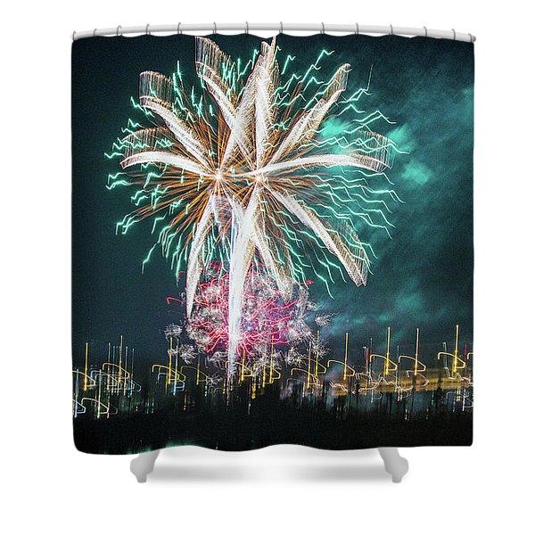 Artistic Fireworks Shower Curtain