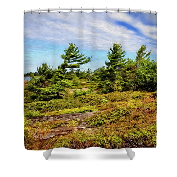 Artistic Georgian Bay Shower Curtain