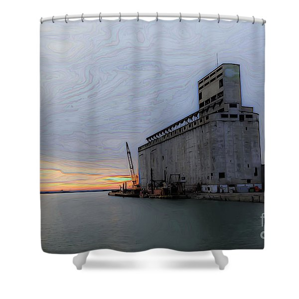Artistic Sunset Shower Curtain