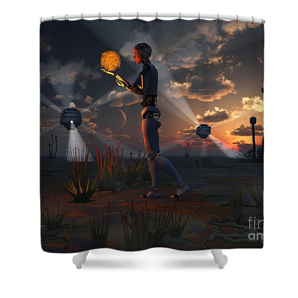 Artists Concept Of A Quest To Find New Shower Curtain by Mark Stevenson