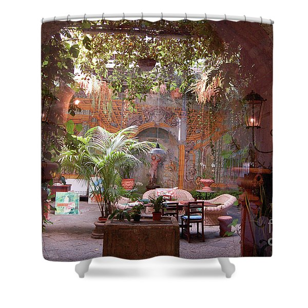 Artists' Studio In Sorrento Italy  Shower Curtain