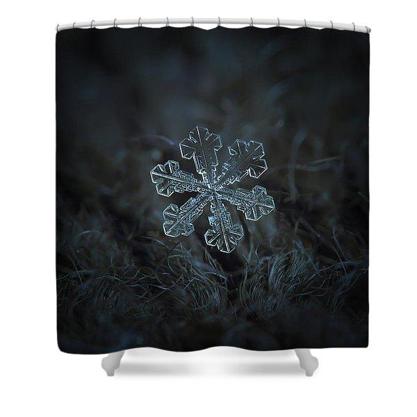 Snowflake Photo - Vega Shower Curtain