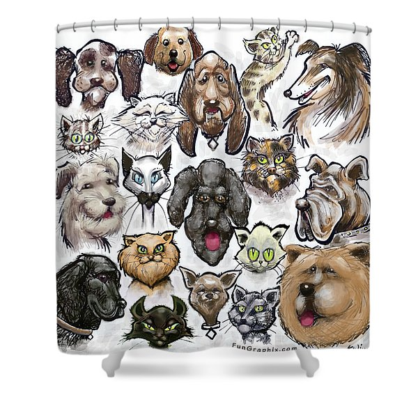 Cats N Dogs Shower Curtain