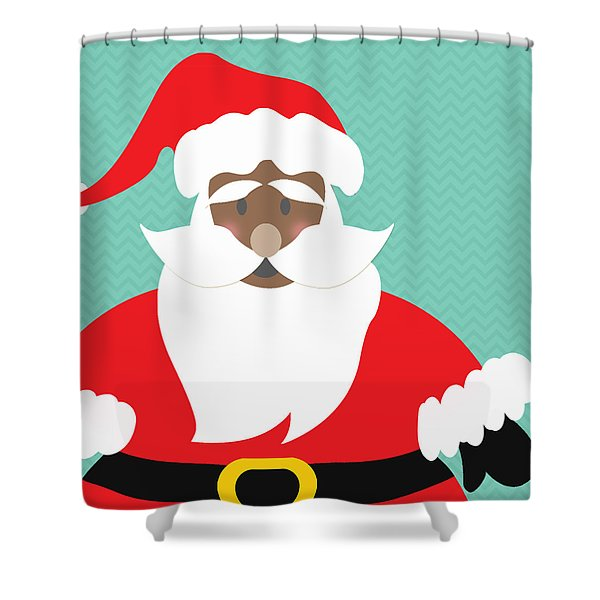 African American Santa Claus Shower Curtain