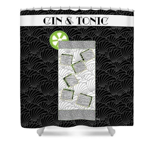Gin And Tonic Cocktail Art Deco Swing   Shower Curtain
