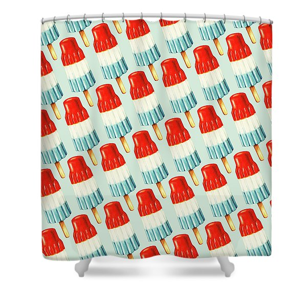 Bomb Pop Pattern Shower Curtain