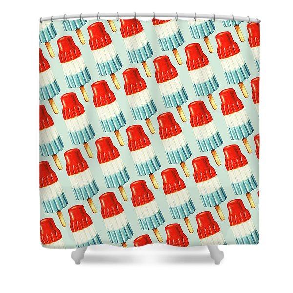 Bomb Pop Pattern Shower Curtain