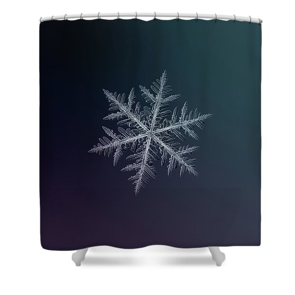 Snowflake Photo - Neon Shower Curtain