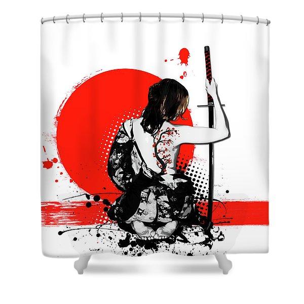Trash Polka - Female Samurai Shower Curtain