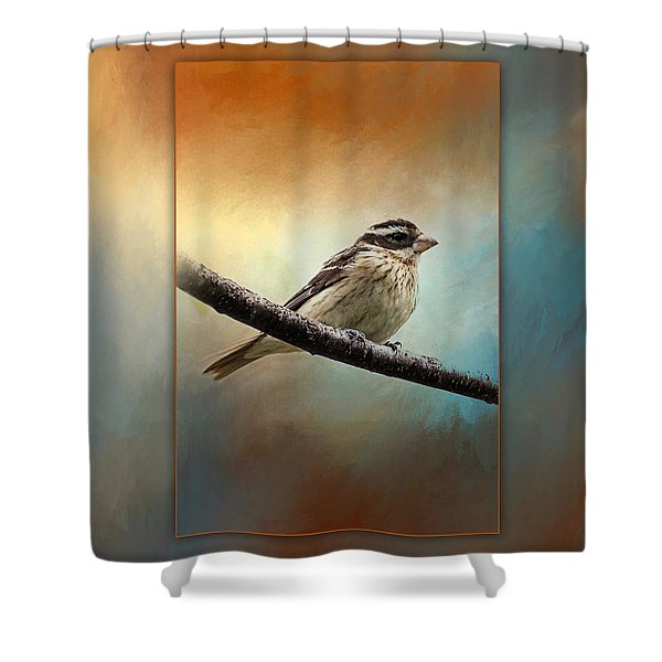 Wisconsin Songbird Shower Curtain