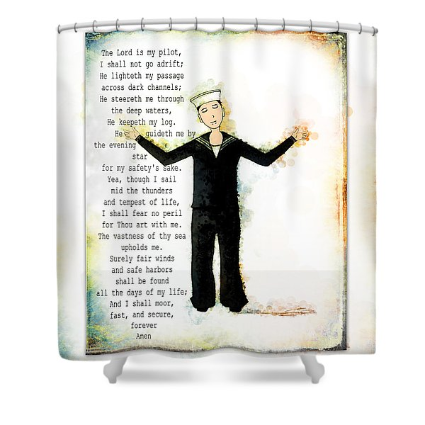 Sailor's Prayer Shower Curtain