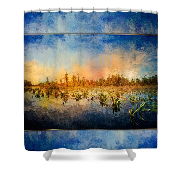 Sunset Over The Okefenokee Shower Curtain