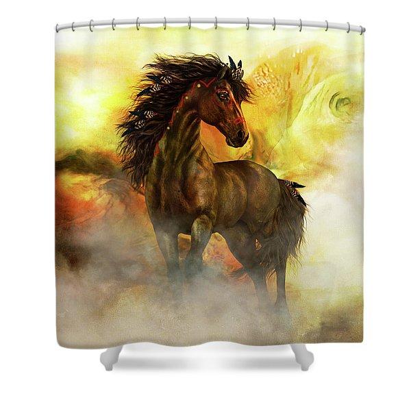 Chitto Spirit Horse Shower Curtain
