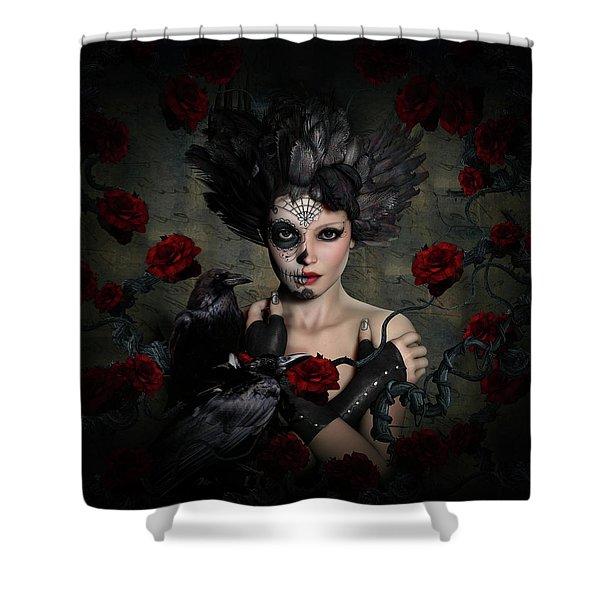 Darkside Sugar Doll Shower Curtain