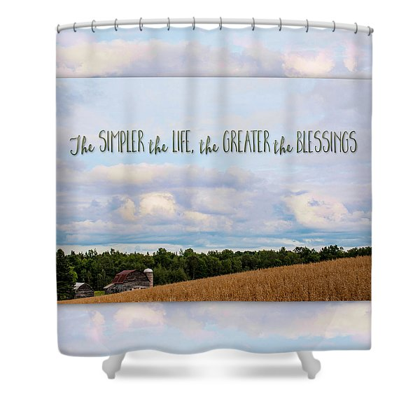 The Simpler Life Shower Curtain