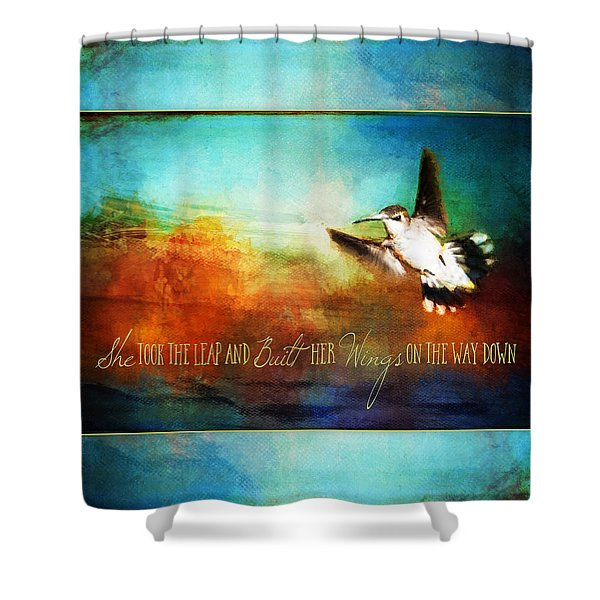She Built Her Wings Shower Curtain