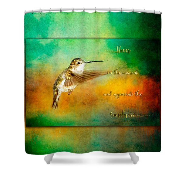 Hummingbird Hover Shower Curtain