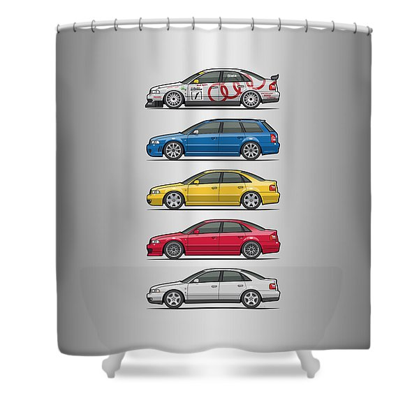Stack Of Audi A4 B5 Type 8d Shower Curtain