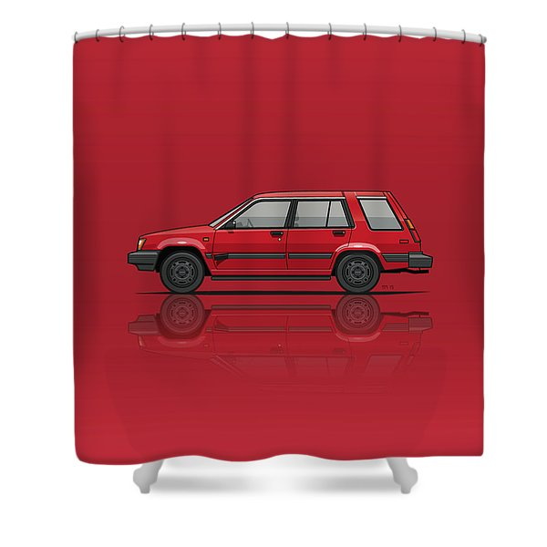 Jesse Pinkman's Crappy Red Toyota Tercel Sr5 4wd Wagon Al25 Shower Curtain