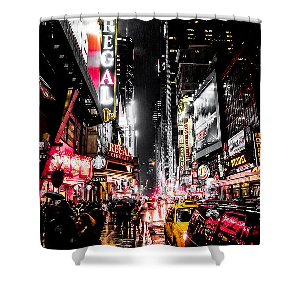 New York City Night II Shower Curtain