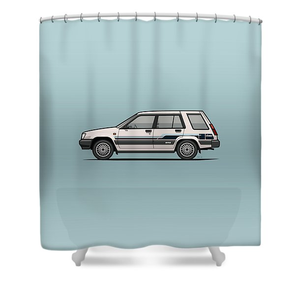 Toyota Tercel Sr5 4wd Wagon Al25 White Shower Curtain
