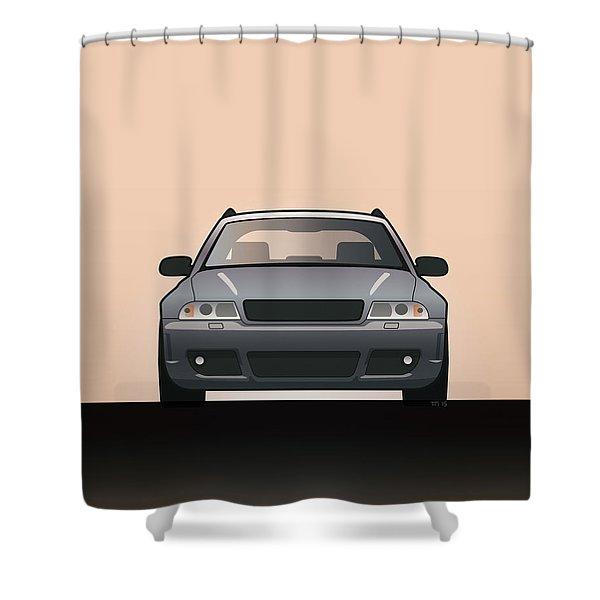 Modern Euro Icons Car Series Audi Rs4 A4 Avant Quattro B5 Shower Curtain