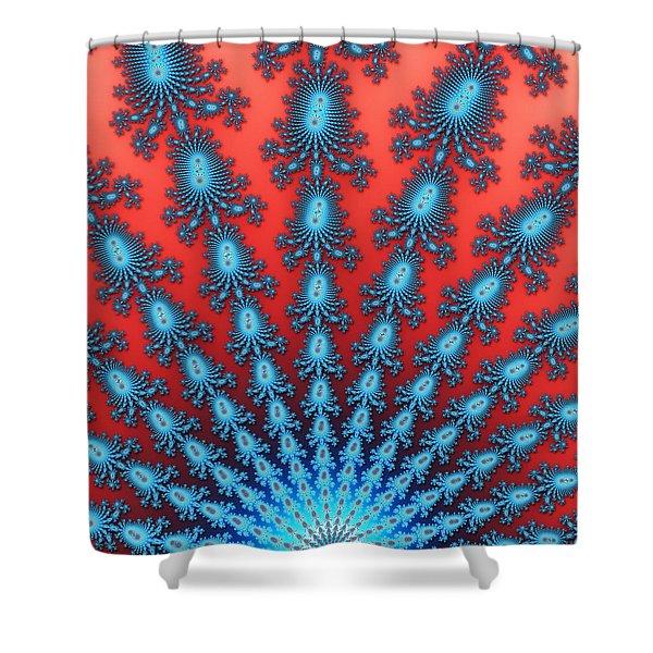 Fractal Starburst Shower Curtain