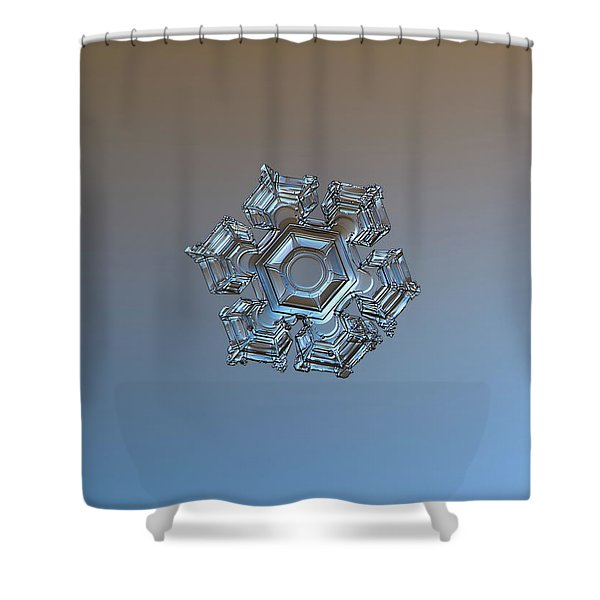 Snowflake Photo - Cold Metal Shower Curtain
