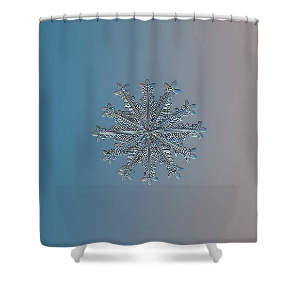 Snowflake Photo - Wheel Of Time Shower Curtain