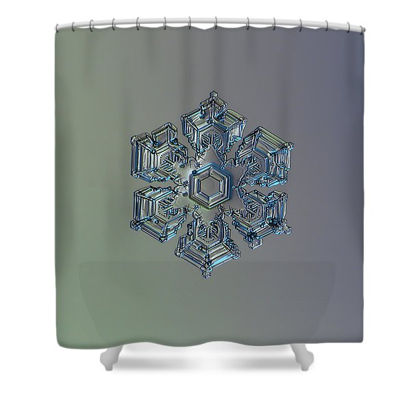 Snowflake Photo - Silver Foil Shower Curtain