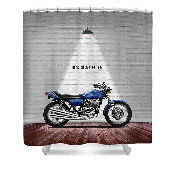 Kawasaki H2 Mach Iv Shower Curtain