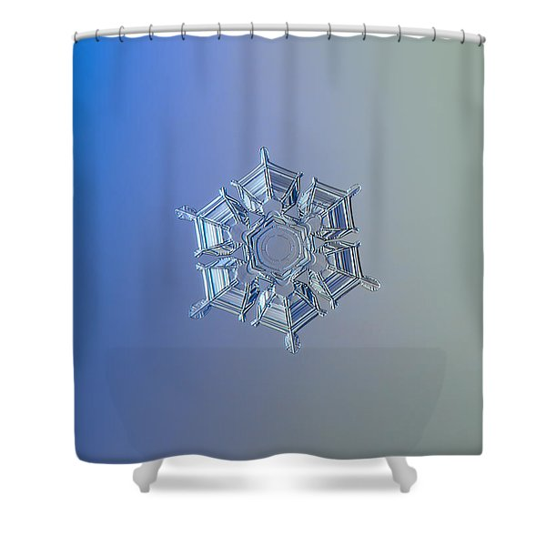 Snowflake Photo - Ice Relief Shower Curtain