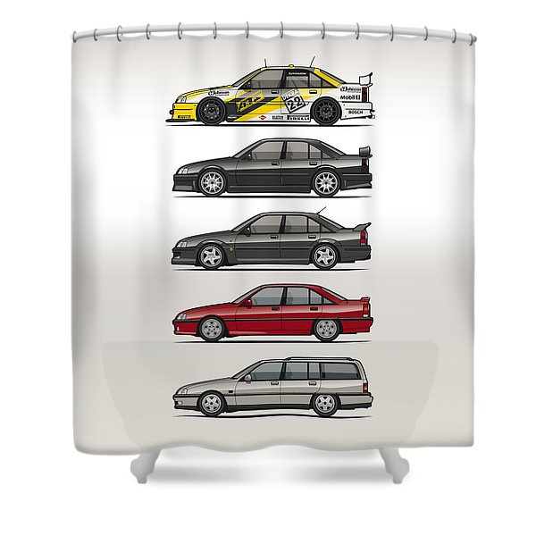 Stack Of Opel Omegas Vauxhall Carlton A Shower Curtain