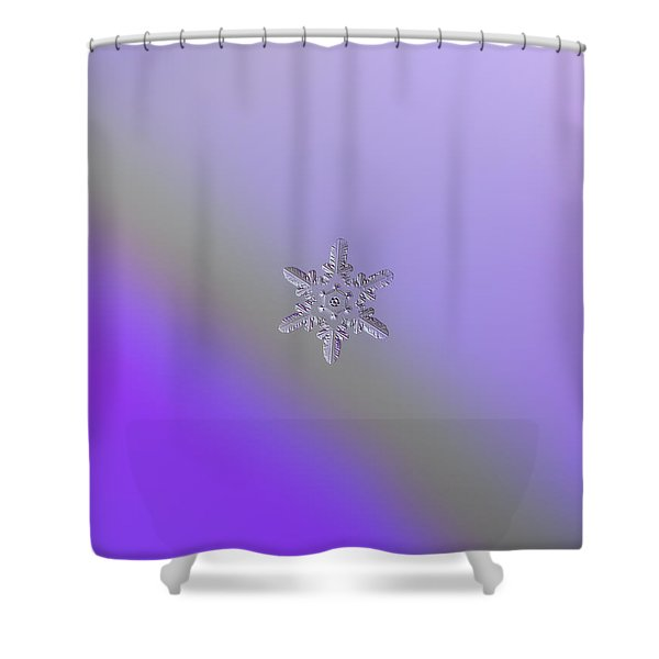 Snowflake Photo - Heart-powered Star Shower Curtain