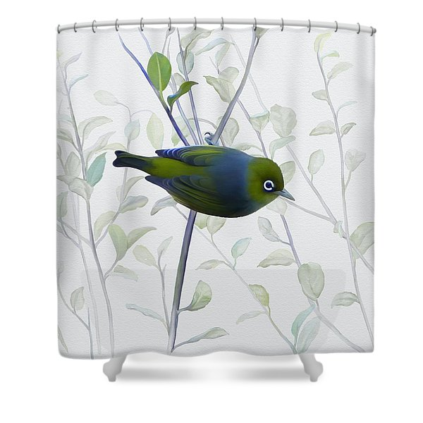 Silvereye Shower Curtain