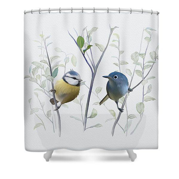 Birds In Tree Shower Curtain