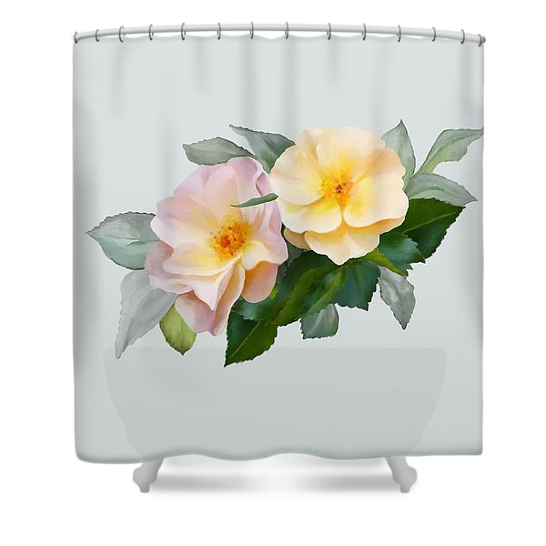 Two Wild Roses Shower Curtain