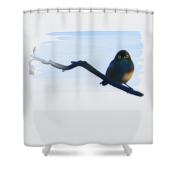 Eye To Eye With Silvereye Shower Curtain