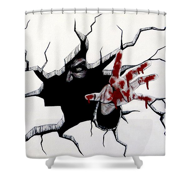 The Demon Inside Shower Curtain