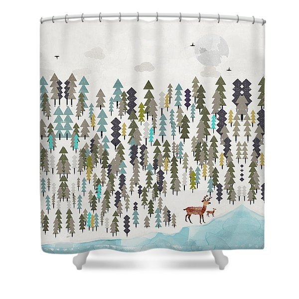 The Winter Forest Shower Curtain