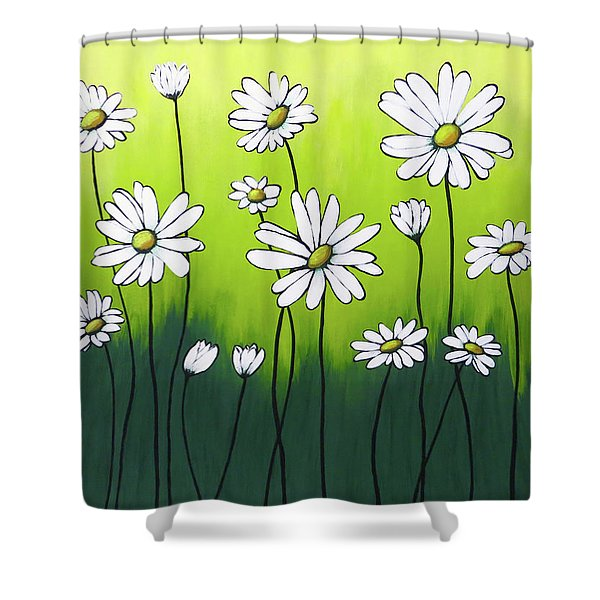 Daisy Crazy Shower Curtain